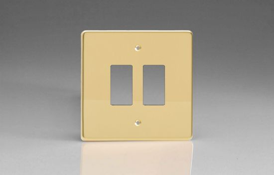 Varilight PowerGrid Plates Polished Brass